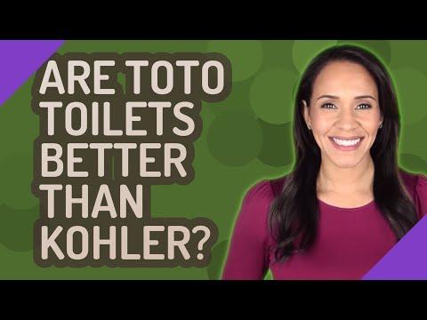 Are Toto toilets better than Kohler?
