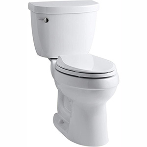 Kohler Cimarron - Best toilet for DIY experts looking to self-install their new system (table)